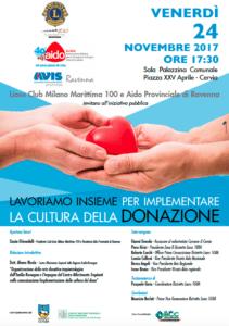 AVIS e AIDO per la cultura della donazione @ Sala Palazzina Comunale  | Cervia | Emilia-Romagna | Italia