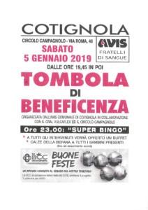 Tombola di beneficienza - AVIS Cotignola @ Cricolo Campagnolo