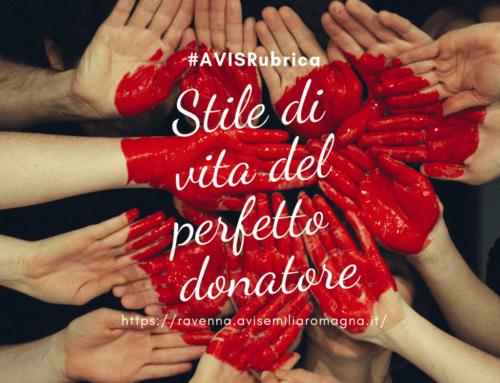 #AVISRubrica: Stile di vita del perfetto donatore