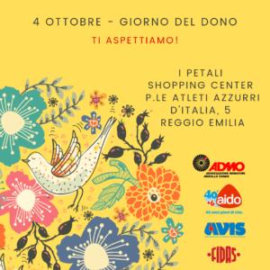 Giorno del Dono @ I Petali Shopping Center   Reggio Emilia   Emilia-Romagna   Italia