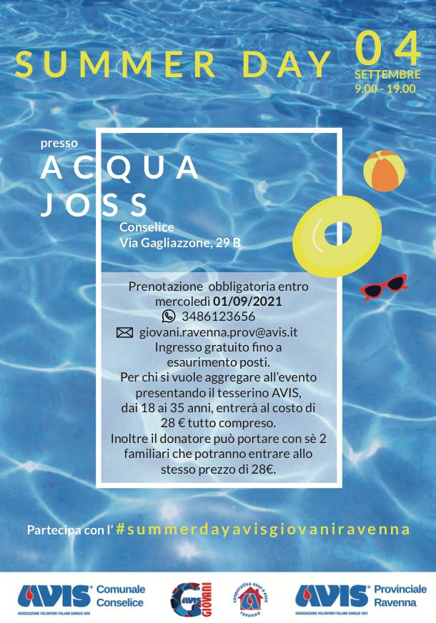 Evento Acquajoss Gruppo Giovani AVIS Provinciale Ravenna @ Acquajoss | Conselice | Emilia-Romagna | Italia