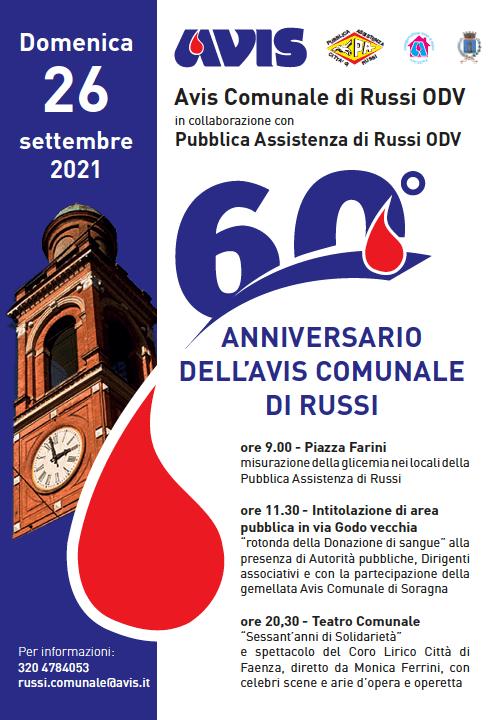 60° anniversario Avis Russi @ Emilia-Romagna | Italia
